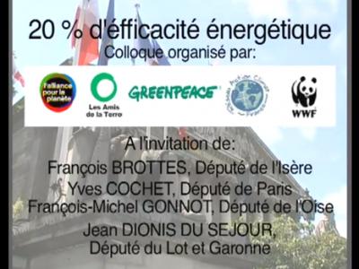 Colloque Greenpeace sur l'efficacité énergétique